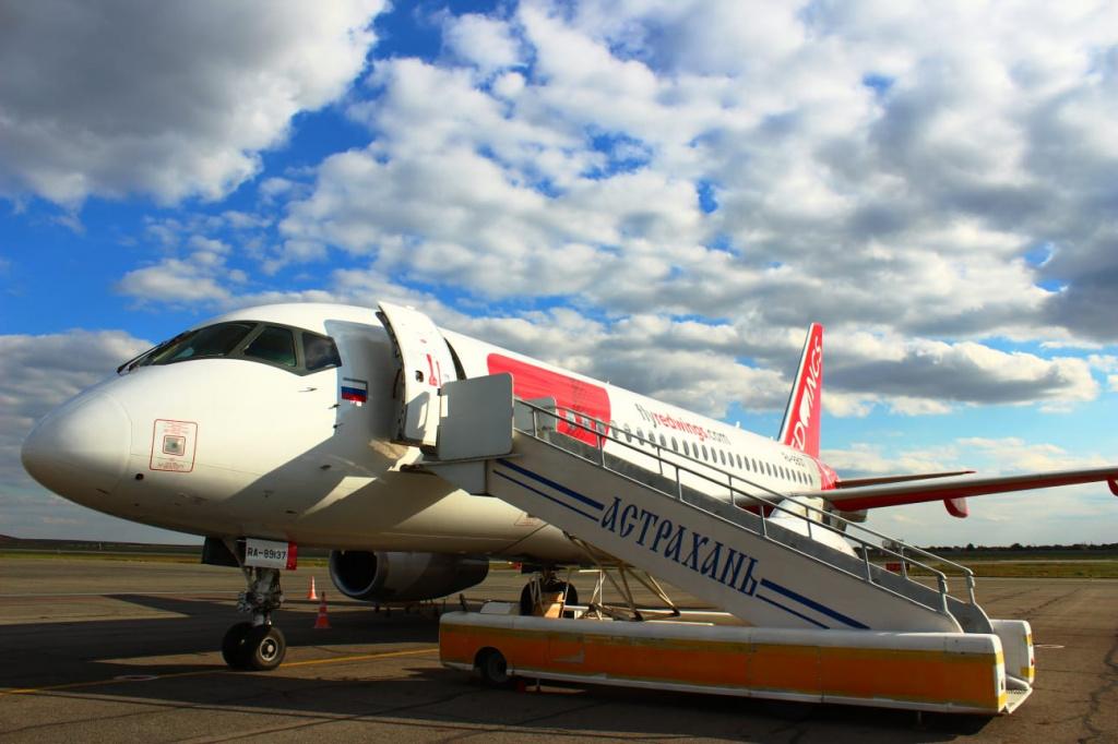 Из Астрахани открыт прямой авиарейс в Челябинск