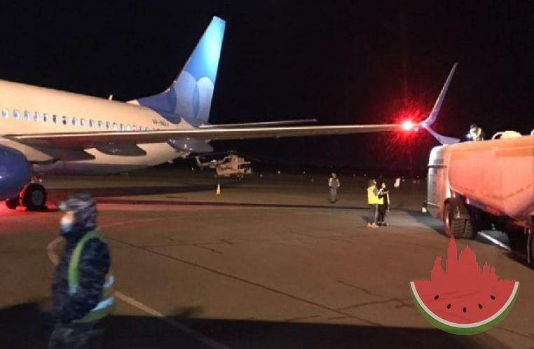 В аэропорту Астрахань самолет компании «Победа» зацепил крылом бензовоз